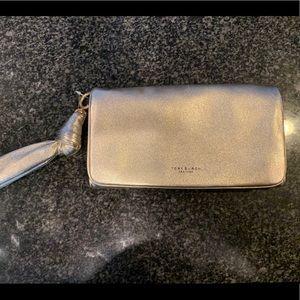 Never worn!! Gold Tory Burch wallet clutch
